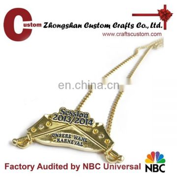 Custom beautiful sword and letter pendant alloy gold plated charm pendant