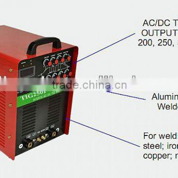 MOSFET inverter ac dc tig welder for Welding Aluminum                                                                         Quality Choice
