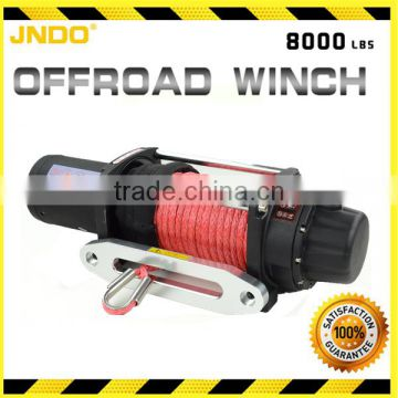 Easy installation 8000lbs electric vehicles winch with synthetic rope