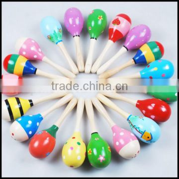 Wholesale Popular Baby Kids Cute Sound Music Toddler Rattle Sand Hammer Musical Wooden Toy for sale