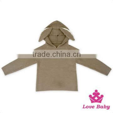 Lovely Rabbit Pattern Hoodies Pullover Sweatshirt With Ears Newborn Children Baby Sweatshirt