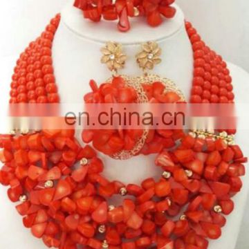 2016 coral beads necklace jewelry set ,coral beads ,african coral beads ,coral beads ncecklace ,african coral beads jewerly