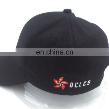 plain embroidery cotton 6 panel custom promotional baseball cap