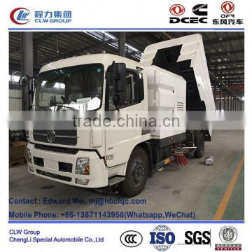 Dongfeng 4*2 4*4 type 180hp~210Hp 10 ton airport runway sweeper
