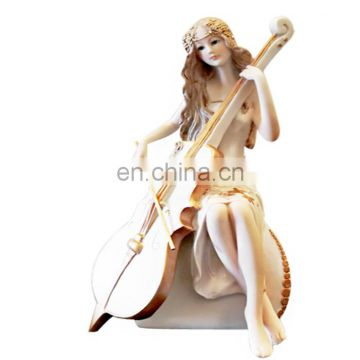 Polyresin lifelike beauty resin sitting lady figure