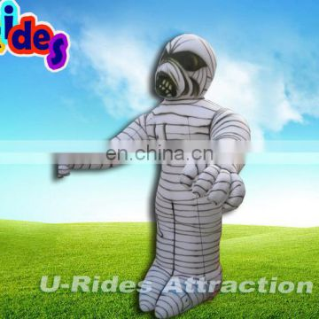 Teapot human walking inflatable moving mummy cartoon for hallomas