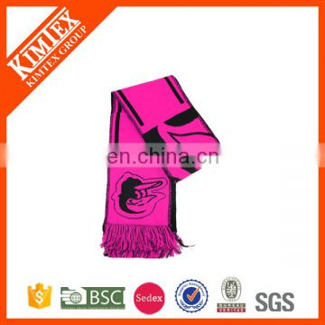 2017 Winter acrylic cheap custom promotional football scarf