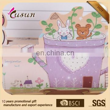 Fancy paper printed special shape blessing cards