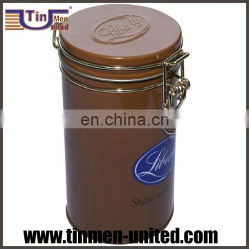 Tea Coffee Tin Boxes with Clip Lid