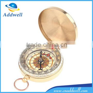 Classic pocket watch style bronzing antique camping compass with night light                                                                         Quality Choice