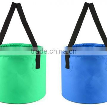 camping hiking multi function outdoor folding bucket