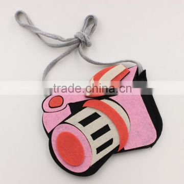 hot sale kids non-woven camera bag, baby decorative animal style bag