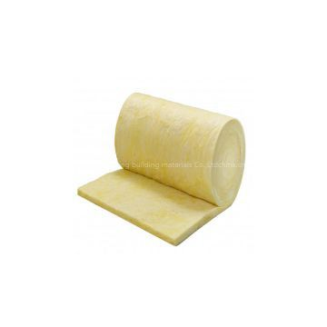 Glass wool batts with foil backed