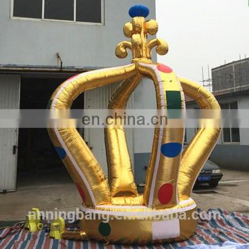 customized big inflatable gold crownfor parties