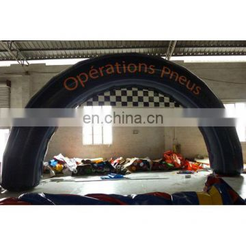 2015 full digital printing inflatable arch door for event, tire arch