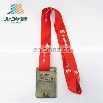 engraved custom metal gold award marathon manufacturer of medals