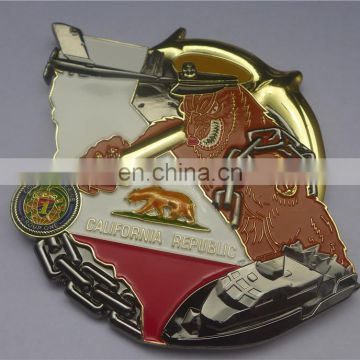 Custom MOQ 10 metal badge