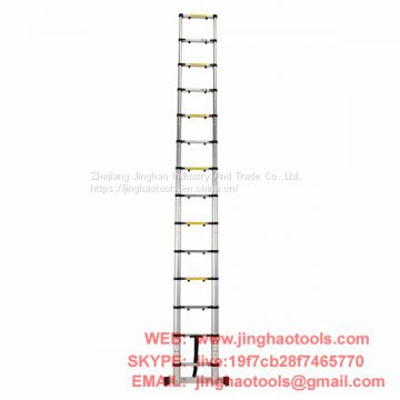 4.1m Aluminum Telescopic Ladder With Finger Gap And Stabilize Bar