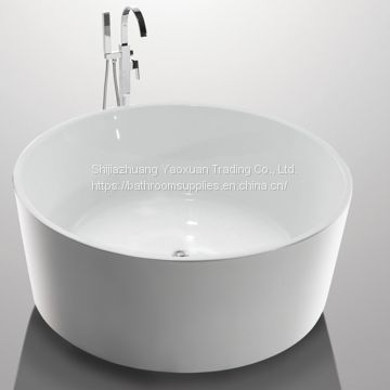 White High End Acrylic Freestanding Soaking Tubs For Small Spaces Round Shape YX-732