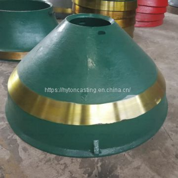 crusher wear parts of high manganese steel suit hp4 metso cone crusher