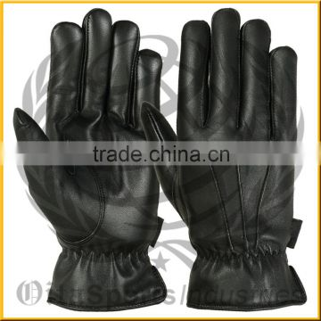 Classical Handmade Men's Glove Winter Warm 2015 Hand Stitching Factory Men's Leather gloves