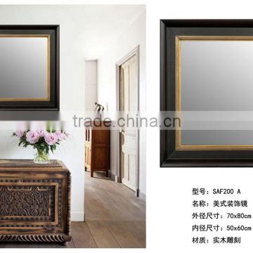 Wooden Fashion Wall Mirror Stand Design