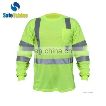 half-long sleeve high visibility new design polyester shirt