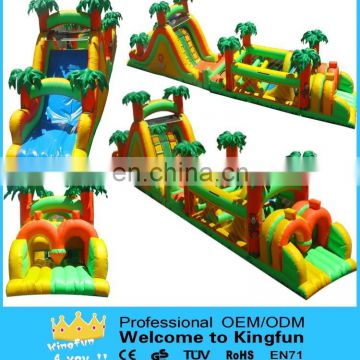 Inflatable tropical playground/inflatable obstacle course