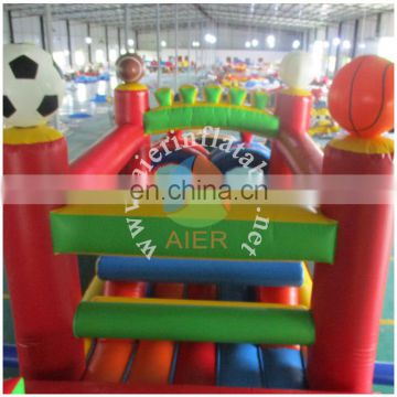 soccer inflatable sport game/PVC obstacle course