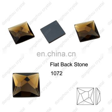 DZ-1072 flat back square crystal stones for fancy jewelry making
