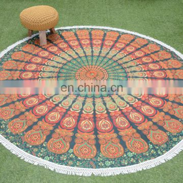 Round Tapestry for Home Outdoor Stylish Luxury Cotton Round Table Cover