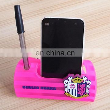 rubber soft PVC desktop mobile stand and pen holder
