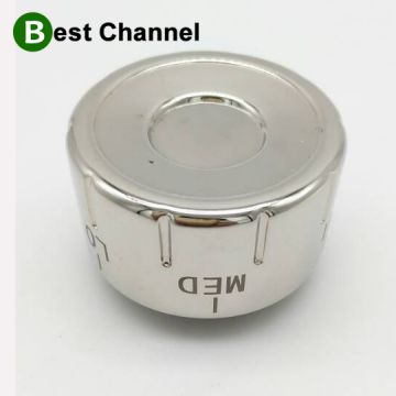 Bright Nickel Gas Grill Cooker Aluminum Oven Knob