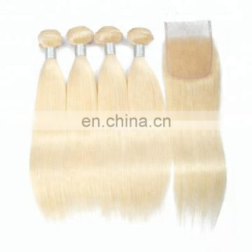 Grade 10A Unprocessed Virgin Full Cuticles Remy Brazilian Human Ombre Blonde Hair Extension