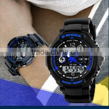 Gift Wristwatch, Anti-Shock Waterproof Fashion Men Sports Watches