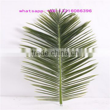 LXY081007 outdoor decorative palm leaves roof plastic artificial palm tree leaves