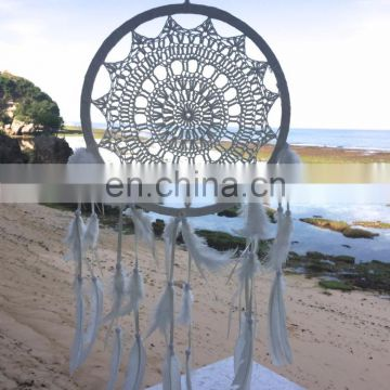 HANDMADE CROCHET DREAM CATCHER LARGE SIZE WHITE COLOR