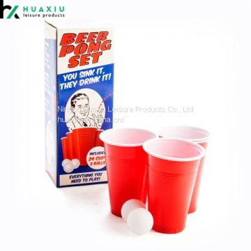 16oz Durable Quality Beer Pong Cups Pack Kit Solo Cups and Balls Kit