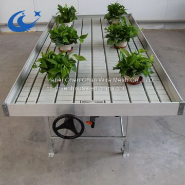 Hot  Sale Greenhouse Table Ebb And Flow Rolling Benches( with gray/white tray)