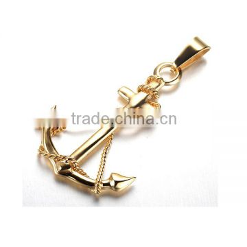 Jewellery stainless steel anchor necklace for men gold anchor necklace wholesale price                                                                                                         Supplier's Choice