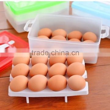 J452 Double egg fresh box, household portable storage box