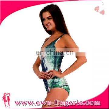 Women Sexy characters Printing one-piece swimming suit
