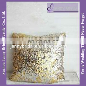 SQP016 custom chritams fancy embroidery sequin decorative pillow cover cushion