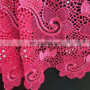 2016 amzing african guipure lace fabric /african lace fabrics guipure latest 2015 / african guipure lace fabric with stones