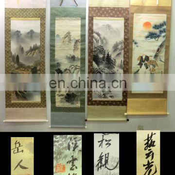 "Assorted precious and artistic Japanese old art ""kakejiku"" for wall decorations"
