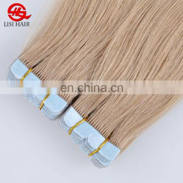 Full Cuticle One Donor 100% Virgin Brazilian Hair Wholesale Private Label 8A Tape Hair Extension In Stock