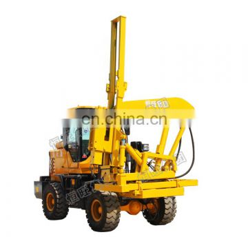 Small t works hydraulic highway guardrail static pile driver