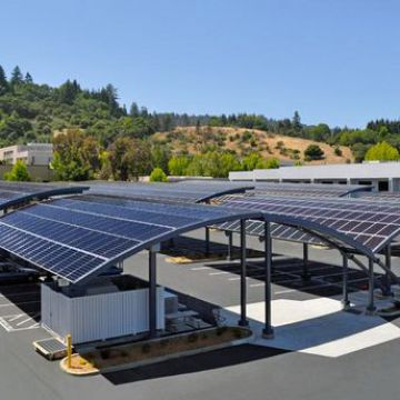 Scratch Resistant Solar Car Park Canopy Solar Power Carport