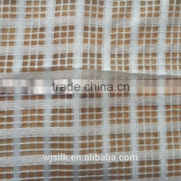 100%polyester racket organza check fabric