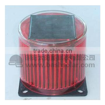 solar traffic light, solar warning light, auto flaming at night
